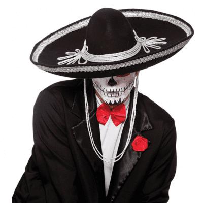 Foto van Sombrero zwart Dia de los Muertos