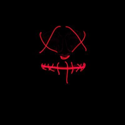 Foto van Lichtgevend masker rood