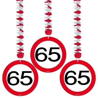 Hangdecoratie Verkeersbord 65/3st