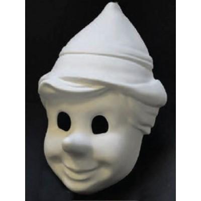 Foto van Venetiaans masker Pinocchio grezzo wit