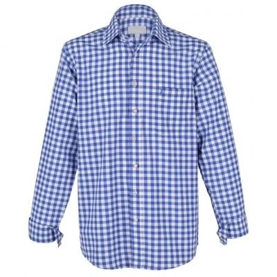 Foto van Tiroler overhemd blauw