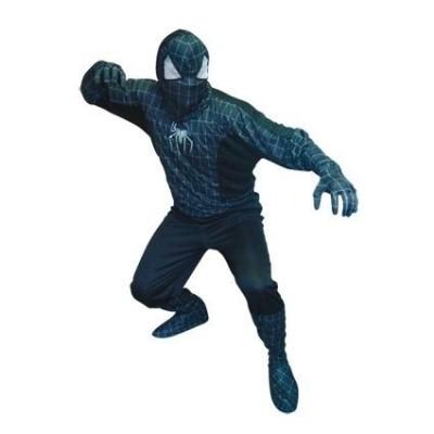 Foto van Spiderman kostuum zwart