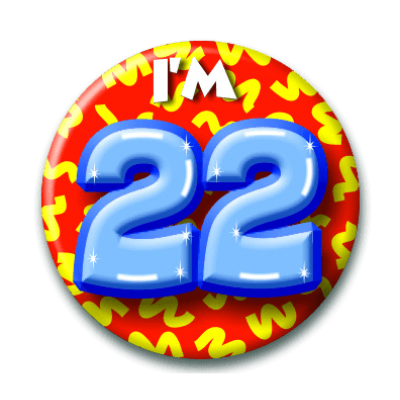 Foto van Button 22 jaar