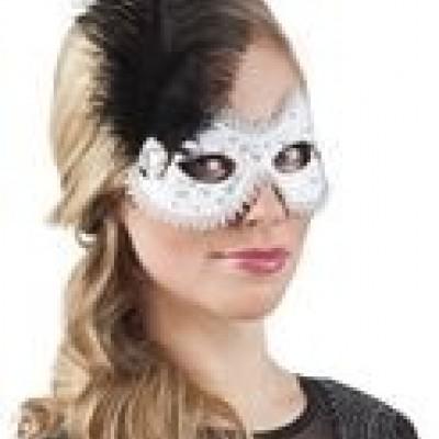 Eye mask Venice lustrino white