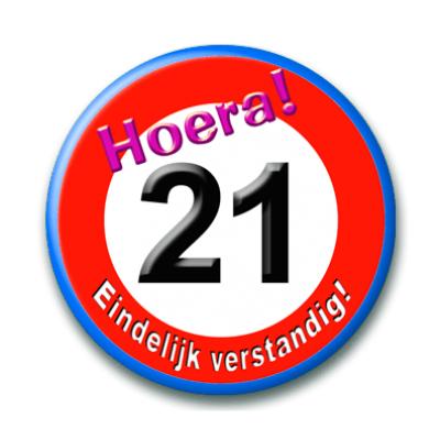 Foto van Button Verkeersbord 21 Jaar