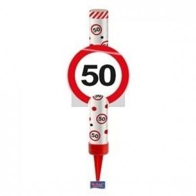 Foto van IJsfontein verkeersbord 50