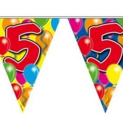 Foto van Vlaggenlijn balloons 5 jaar 10m/stk