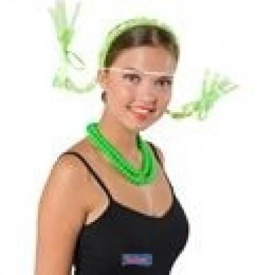 Foto van Tiara vlecht groen met licht