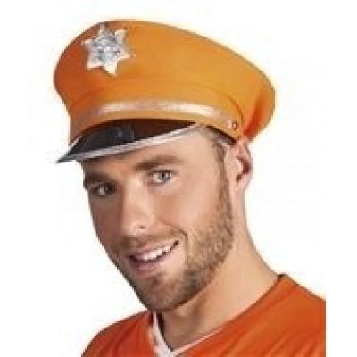 Foto van Politiepet oranje