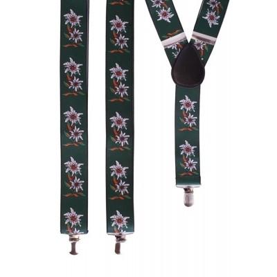 Foto van Tiroler bretels groen met bloemen