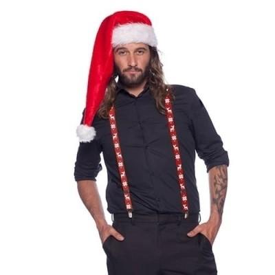 Foto van Rode kerst bretels