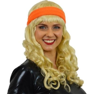 Foto van Zweet hoofdband neon oranje