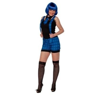 Foto van Schoolmeisje kostuum blauw