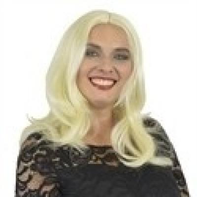 Yvette pruik platina blond
