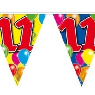 Foto van Vlaggenlijn balloons 11 jaar 10M