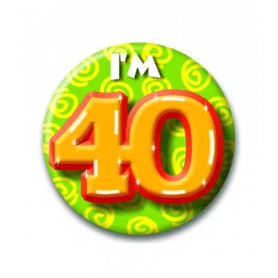 Foto van Button 40 jaar