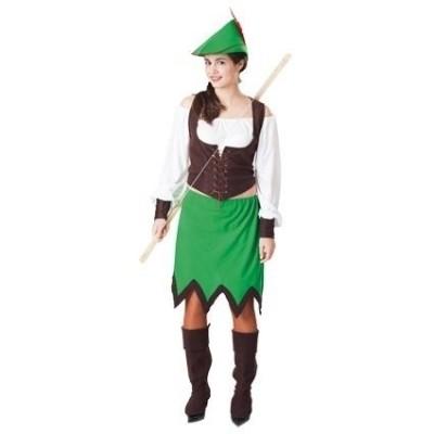 Foto van Robin Hood kostuum vrouw