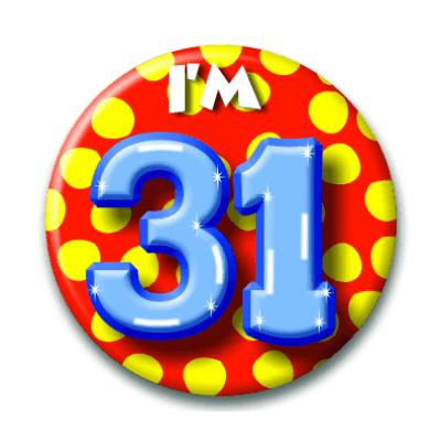Foto van Button 31 jaar