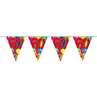 Foto van Vlaggenlijn balloons 60 jaar 10M