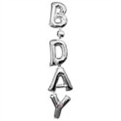 Foto van Birthday ballon zilver