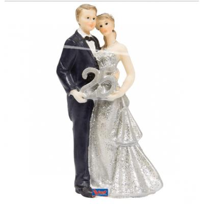 Foto van Taartversiering 25-jarig huwelijk