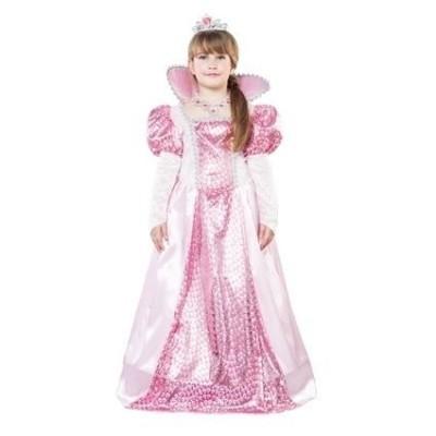Foto van Roze koninginnen jurk kind