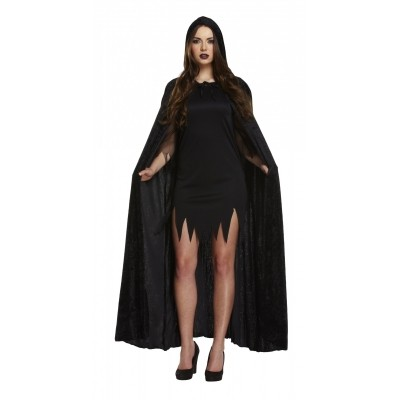 Foto van Zwarte fluwelen cape