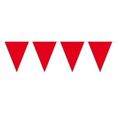 Mini Vlaggenlijn Rood /3mtr