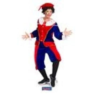 Foto van Pieten kostuum rood blauw M-L