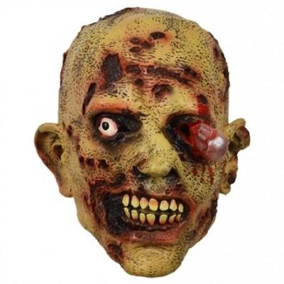Foto van Masker zombie stalen pin in oog
