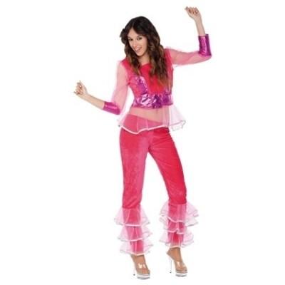 Disco kostuum roze
