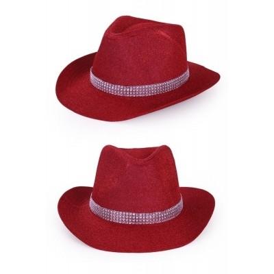 Foto van Cowboyhoed glitter rood luxe
