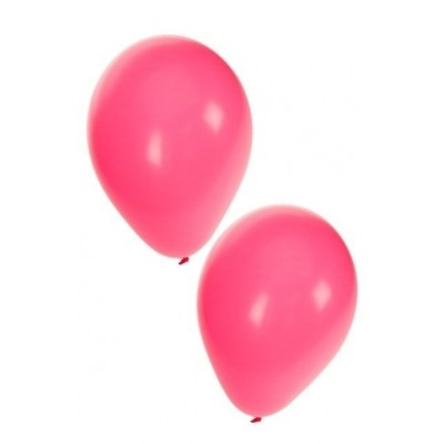 Ballonnen donker roze 50 stuks