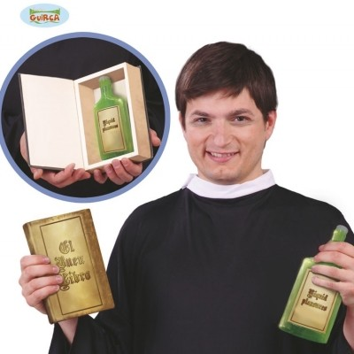 Foto van Bijbel met flesje