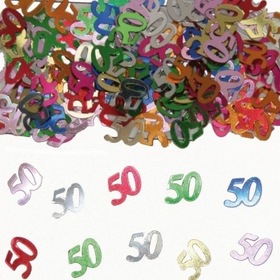 Foto van Tafeldecoratie/sier-confetti 50 /st
