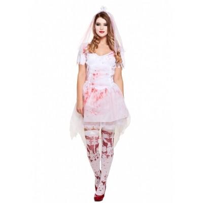 Foto van Bruidskostuum met bloed