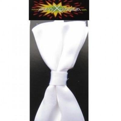 Foto van Vlinderstrik met elastiek satijn wit (13 x 8.5 cm)