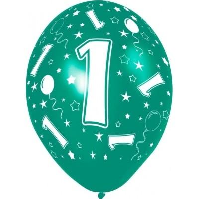 Ballon 1 jaar 5 stuks