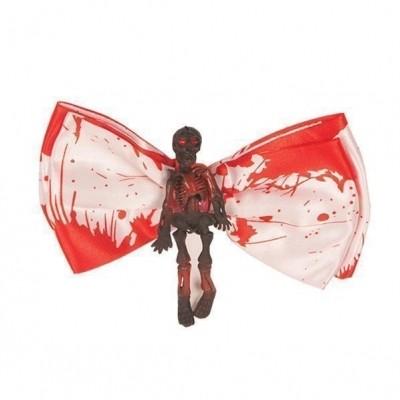 Foto van Vlinderstrikje met bloed en skelet