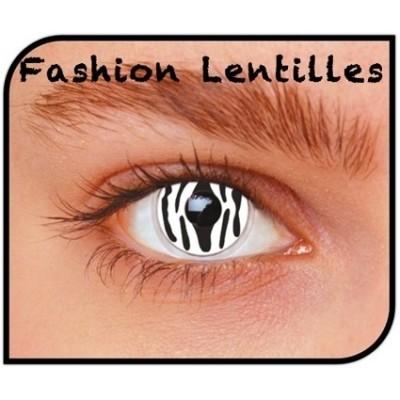Foto van Kleurlenzen Zebra maandlenzen
