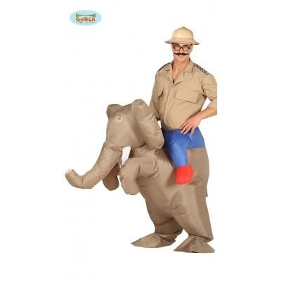 Foto van Carry me kostuum olifant opblaasbaar