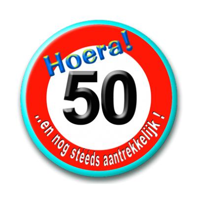 Foto van Button Verkeersbord 50 Jaar