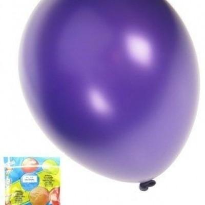 Foto van Kwaliteitsballon metallic paars per 50 (Ø 14 inch / 36 cm)