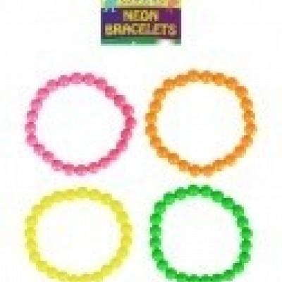 Foto van Neon armband 4 stuks