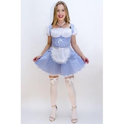 Foto van Oktoberfest jurkje - beiers blauw