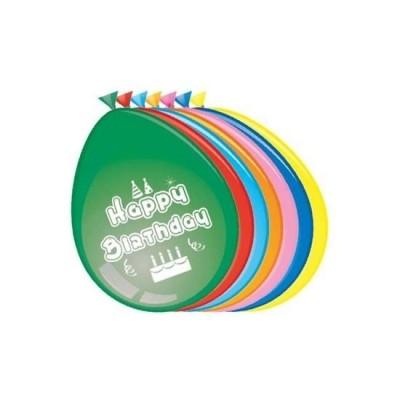 Foto van Verjaardagsballon per 8 (Ø 30 cm)