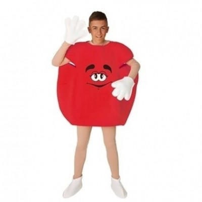 Foto van M&M pak rood volwassen maat