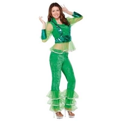 Foto van Disco meisje groen volwassen maat