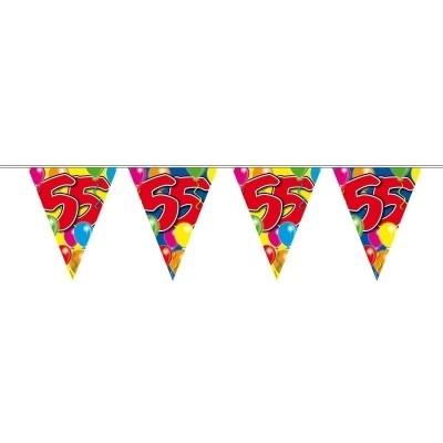 Vlaggenlijn balloons 55 jaar 10M