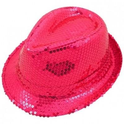 Roze Pailletten Hoed